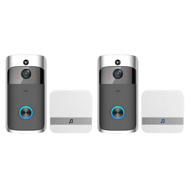WiFi Smart Wireless Security DoorBell HD 720P Visual Intercom Recording Video Phone Remote Home Monitor Night Vision Receiver