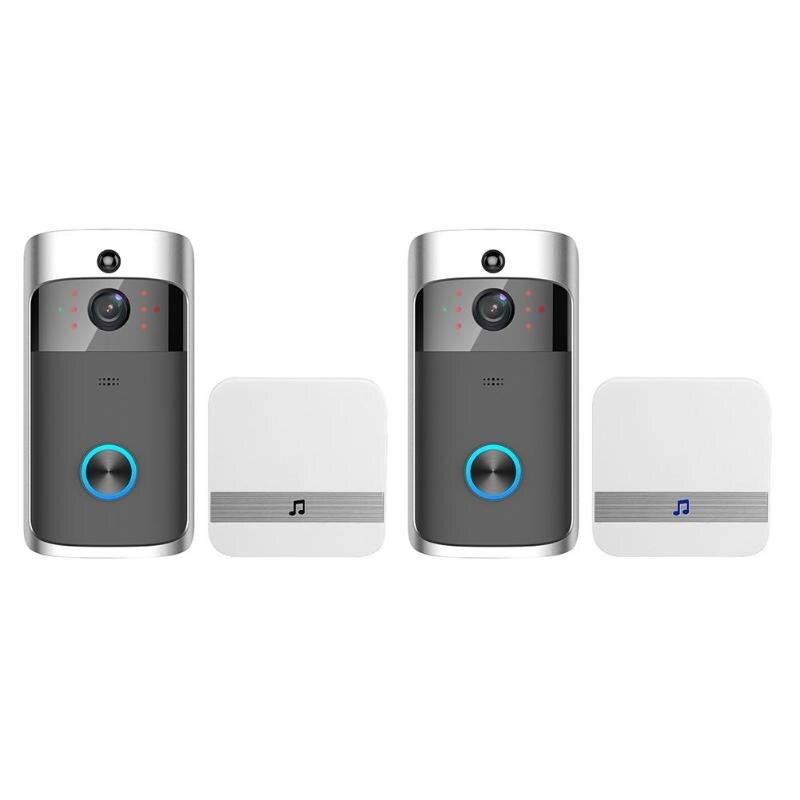 WiFi inalámbrico inteligente seguridad timbre HD 720 P Visual Intercom la grabación de Video remoto de teléfono casa Monitor de visión nocturna receptor