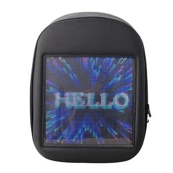 ABDB-Novel Smart Led Backpack Cool Black Customizable Laptop Backpack Innovative Christmas Gift School Bag