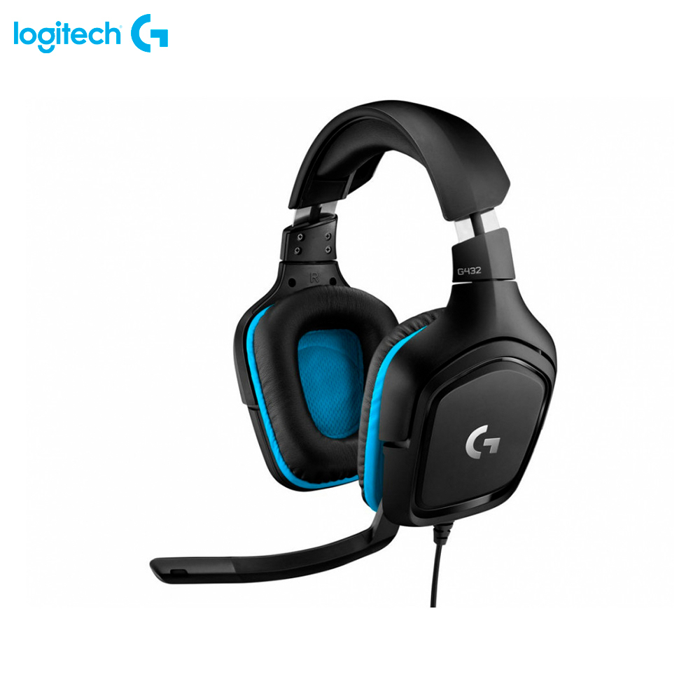 Earphones & Headphones Logitech G G432 981-000770 computer wired headset gaming FPS MOBA esports 1more super bass headphones black and red