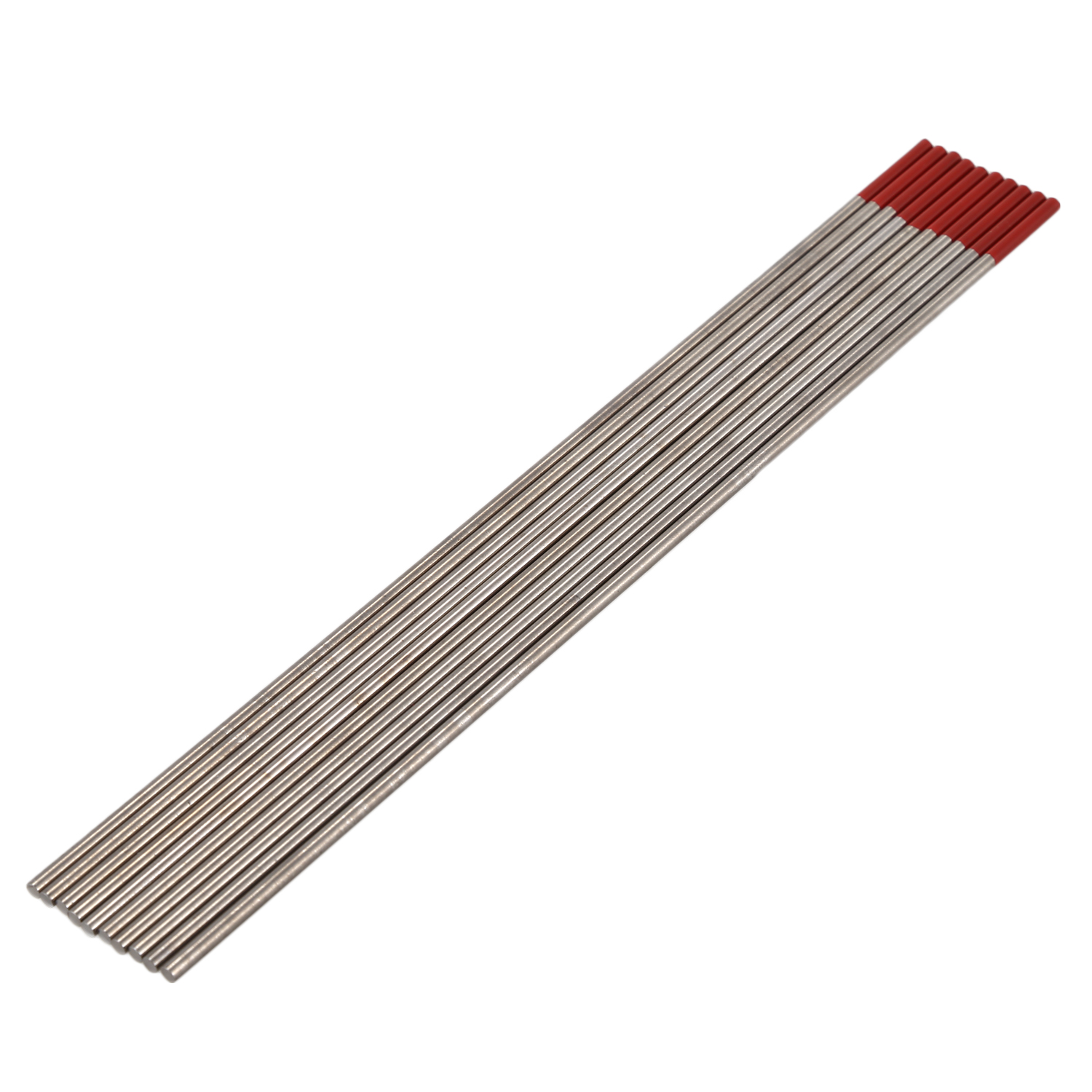 BHTS-TIG Welding Tungsten Electrodes 2% Thoriated (Red, WT20) 10-Pack
