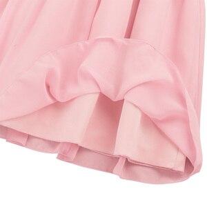 Image 5 - Iiniim ילדי העשרה שרוולים קפלים פרח ילדים שמלות בנות נסיכת שמלת חתונת Vestidos מסיבות יום הולדת שמלה