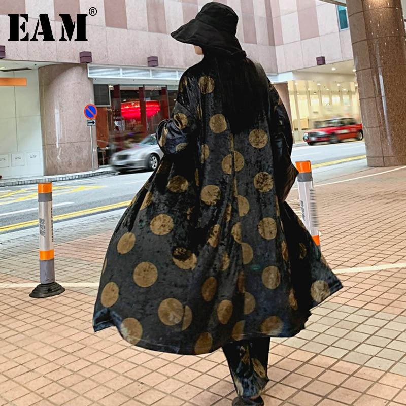 Grande Js155 Velours Femmes Picture Longues D'été Revers Nouveau Dot Coupe eam2019 Taille Marée Printemps Noir De À Manches vent Mode Color Imprimé Tranchée 8nPwkXN0O