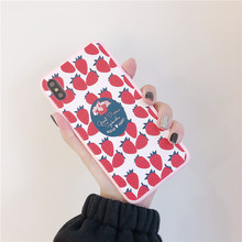 Ins Cute Strawberry Candy Phone Case For iphone 7 7Plus 6 6s 8 X XS MAX XR Soft TPU Cover Kawaii Summer Fruit Coque Fundas
