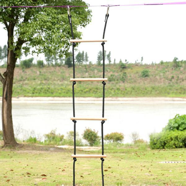 Indoor Outdoor Climbing Rope Ladder For Kids Children Hanging Wooden Ladder