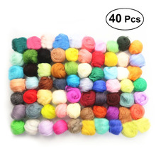 40pcs 40 Colors Wool Corriedale Needlefelting Top Roving Dye
