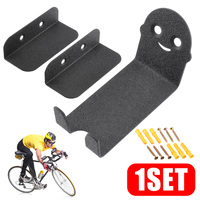 1 Set Bike Bicycle Cycling Pedal Tire Wall Mount Storage Hanger Stand Rack High Carbon Steel Mountain Bicycle Wall Hanging Rack