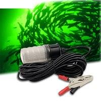 12V LED Dompelpompen Vissen Licht IP68 Onderwater Vis trekken Finder Lamp luz pesca met batterij clip 10W 5m netsnoer