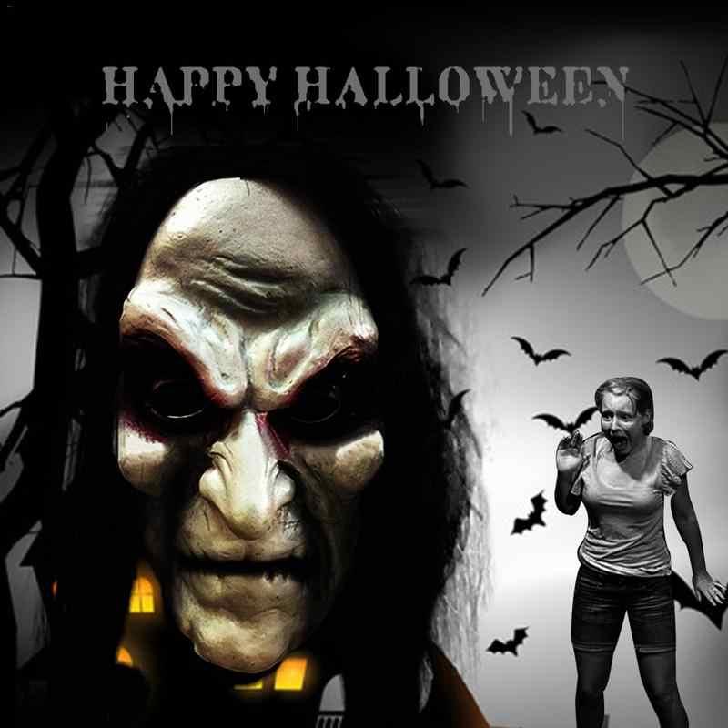 Máscara de halloween máscara de halloween máscara de halloween máscara de halloween máscara de cabelo longo fantasma assustador