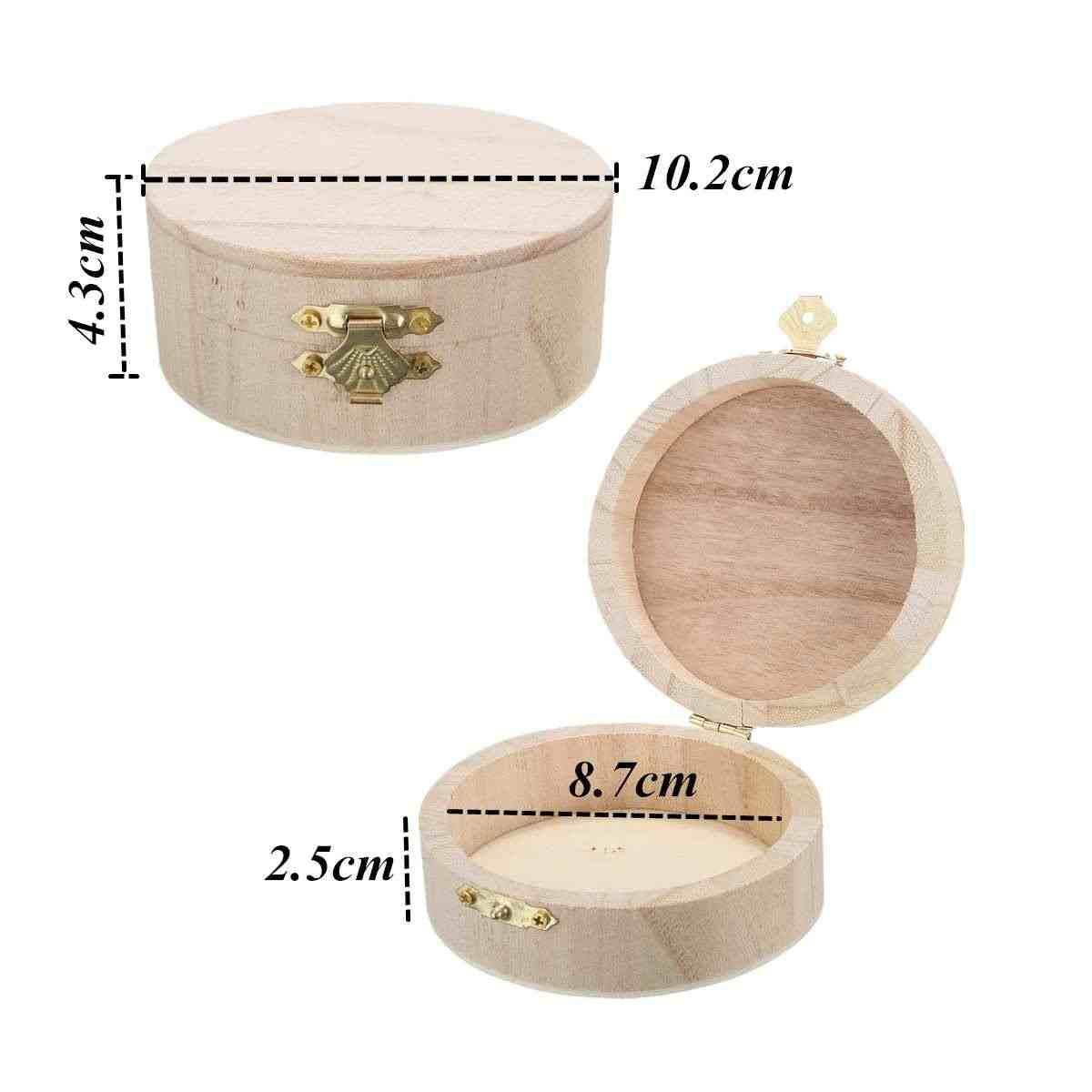 Круглые декоративные хранения Коробки деревянные шкатулки часы кольцо Цепочки и ожерелья браслет оборудования Организатор Дело свадебный подарок