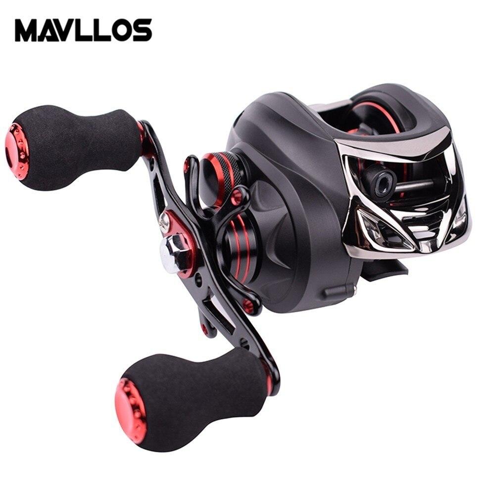 Mavllos TORNADO moulinet de pêche en eau salée 7.0: 1 gauche droite frein magnétique profil bas bobine de pêche Baitcaster