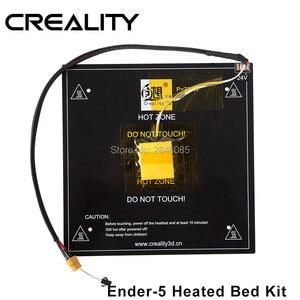 Image 1 - Creality 3D oficjalny sklep dostaw hot bed board + kable do drukarki 3D Ender 5 rozmiar 220*220*250mm fabryka części drukarki 3D
