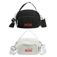 купить Canvas Mini Shoulder Bag for Women Canvas Pure Color Satchel Crossbody Bags Small Casual Female Messenger Purse Handbags Bolsa дешево