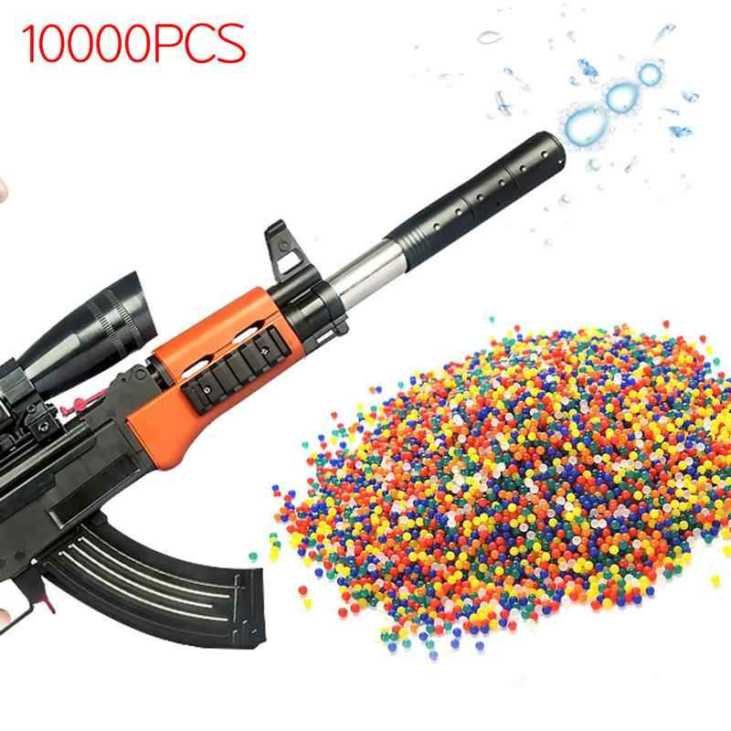 10000pcs/packet Colored Soft Crystal Water Paintball Gun Bullet Grow Water Beads Grow Balls Water Gun Toys for kids