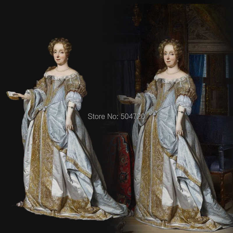 54932fa739690 Tailored!NEW Royal 18 Century French Duchess Retro medieval Renaissance  Reenactment Theatre Civil war Victorian dress HL-357