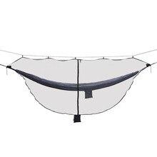 Installation Simple de pourvoyeurs de moustiquaire de moustiquaire dinsecte de hamac détachable sadapte à la Double fermeture éclair de Protection de 360 degrés de hamacs