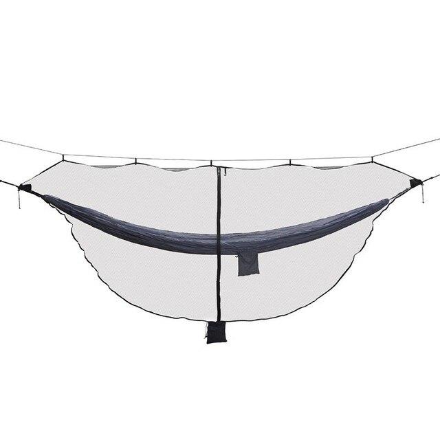 取り外し可能なハンモックバグ蚊帳 SnugNet Outfitters 簡単なセットアップは、ダブルハンモック 360 度保護両面ジッパー