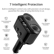 Dual USB Car Charger Cigarette Lighter For Xiaomi iPhone Type-C Phone Car Charger with Car Battery Voltage Detection Function for sale gkl211 charger for leica geb221 geb211 geb212 battery with car charger