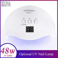 Full Beauty Nail Dryer LED UV Lamp 54W/48W/36W Curing Gel Polish Smart LCD display Manicure Sun Light Nail Lamp Tool SUN X9Plus
