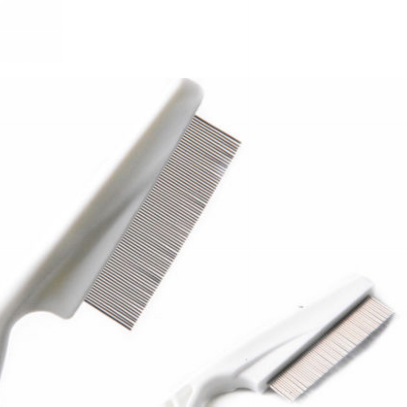 Mayitr 1pc High Comfort Head Lice Comb Metal Nit Head Hair Lice Comb Fine Toothed Flea Flee with Handle For Kids Pet Tool