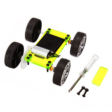 Solar Toys For Kids 1 Set Mini Powered Toy Car DIY Kit Child Educational Funny Gadget Hobby Gift