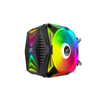 SOPLAY CPU Cooler RGB 4PIN PWM Water Cooler Colorful Computer Case Fan Cooler Radiator Hydraulic Bearing Support 5V RGB