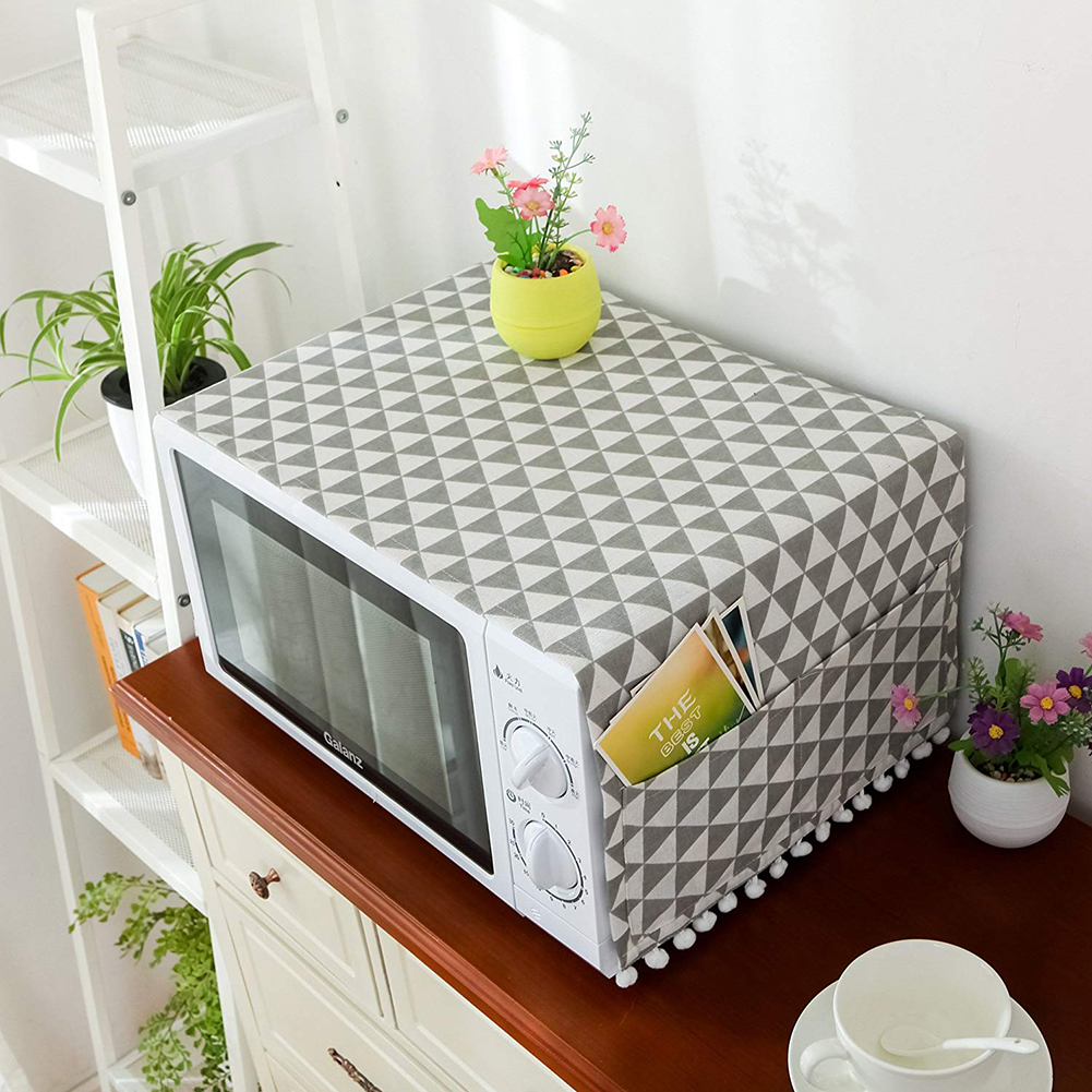 All For Home And Kitchen Oven Printed Microwave Dust Cover Kitchen Gadgets Products Microwave Cover Storage Organization Bag