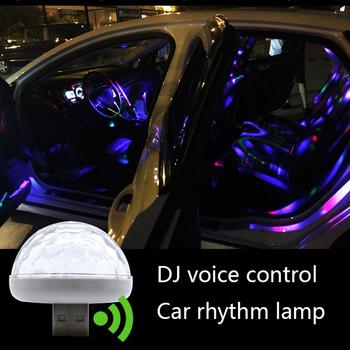Mini przenośne USB Crystal Ball światło dyskotekowe LED kolorowy efekt kontrola dźwięku lampa sceniczna strona dekoracji domu tanie i dobre opinie RETFGTU Klimatyczna lampa Car decoration Light USB Car Light Sound Control Lamp Atmosphere LED Light Mini Car Lamp Decorative Lamp