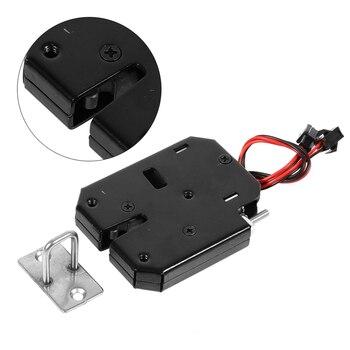 цена на brand new Electric Control Lock Electromagnetic Door Locks Cabinet Drawer Locker Lock Latch DC 12V 2A security accessories