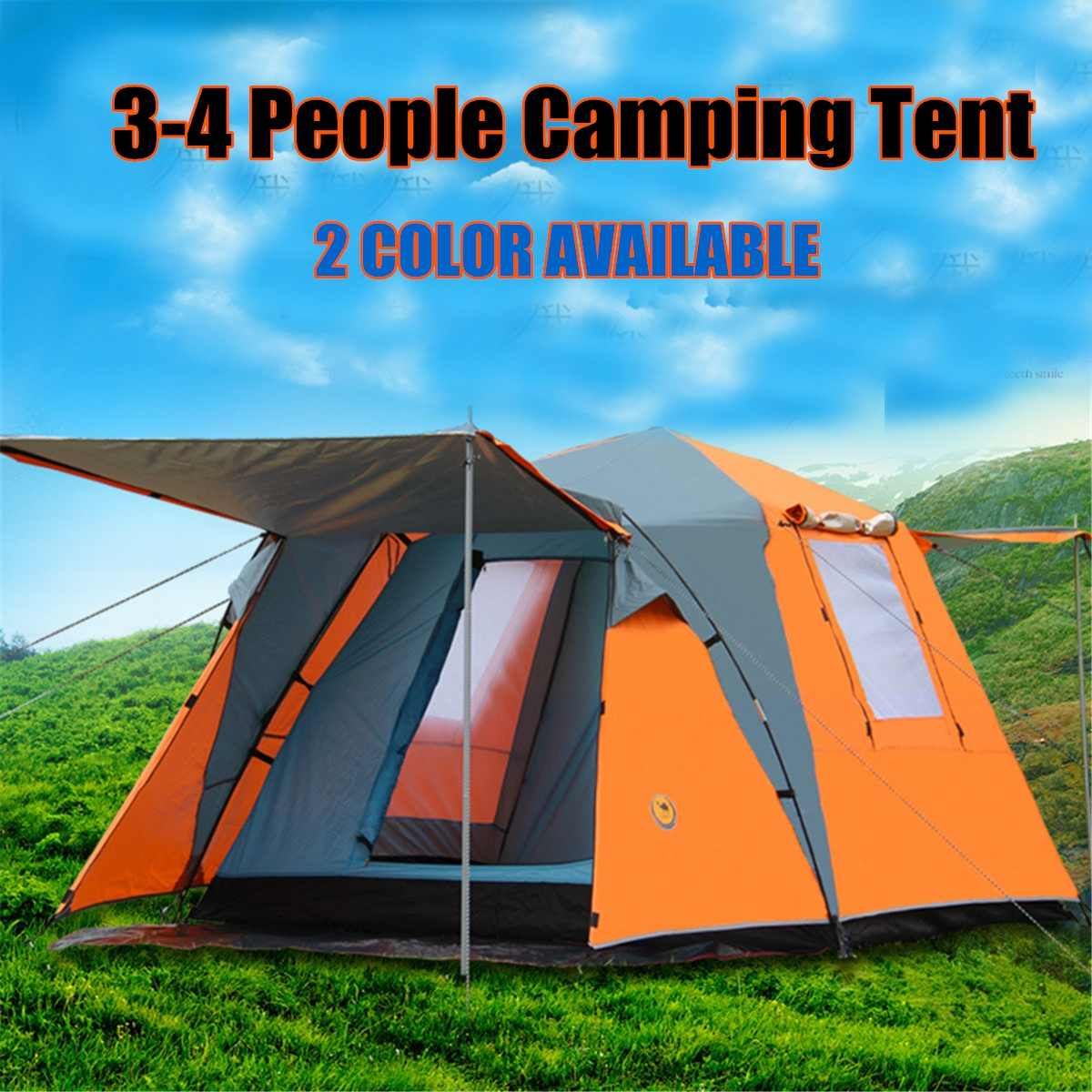 Automatique Pop up Tente Portable Étanche Camping Pêche Plage Canopy Couverture De L'abri En Plein Air Voyage Accessoires Kit 3-4 Personnes