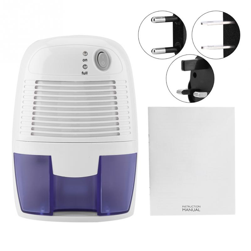 Home Mini Dehumidifier Air Dryer Moisture Absorber No noise Electric Cooling Dryer with 500ML Water Tank