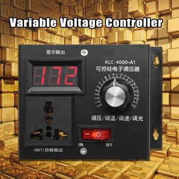 220V 4000W uniwersalny regulator prędkości silnika regulator prędkości zmiennego napięcia wyświetlacz LED do sterowania silnikiem ściemniacz tanie i dobre opinie WOLIKE Silnik prądu stałego Variable Voltage Controller