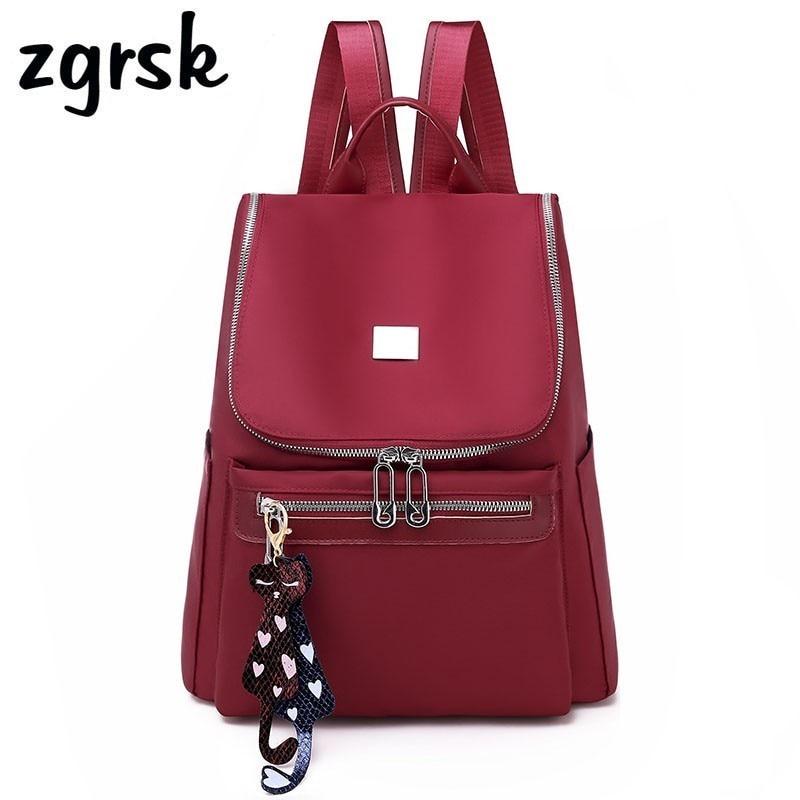 Women Anti Theft Backpack Waterproof Zipper School Bag Backpacks For Teenagers Girls Multifunction Student Backpack RucksackBackpacks   -