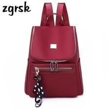 Women Anti Theft Backpack Waterproof Zipper School Bag Backpacks For Teenagers Girls Multifunction Student Rucksack