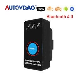 Elm327 Bluetooth 4.0 Obd2 wersja V1.5 ELM 327 Obd 2 przełącznik ELM327 BT Obdii wsparcie Smartphone i PC diagnostyka samochodu HHOBD