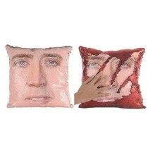 Подушка «русалка» Николя клетка Двусторонняя блесток наволочка Николя клетка изменение цвета декоративные подушки