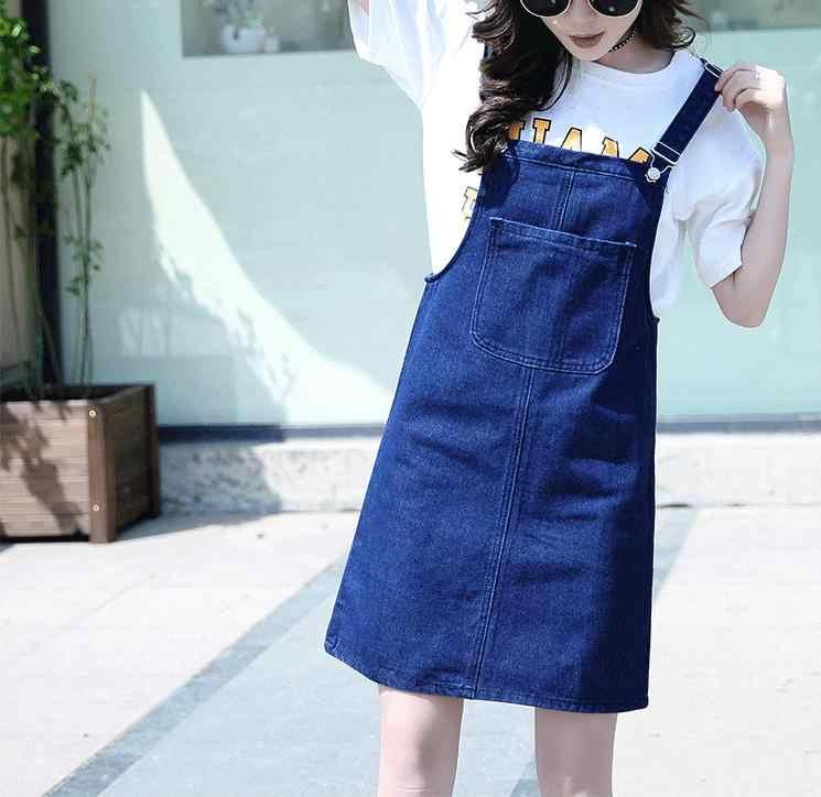 Женские комбинезоны джинсовые подтяжки платье в английском стиле плюс размер Сарафан джинсовое платье женское потертое летнее платье комбинезон женский