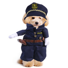 UEETEK Pet Dog Police Suit Cute Cool Comfortable Clothing Cosplay Suits Costume for Halloween Christmas Holiday Daily Wear(China)