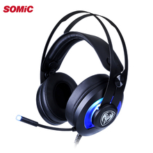 Somic G200 7.1 Surround Sound USB Wired Gaming Headphone Headset dengan Noise Reduction MIC