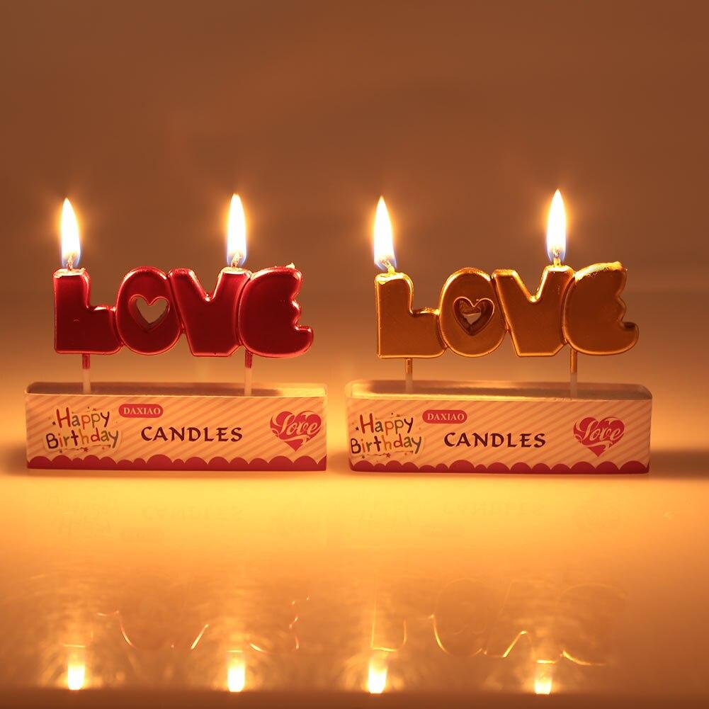 Свечи любовь парафин Буги атмосферу Декор день рождения окружающей среды День Святого Валентина украшения для свадебной вечеринки Подарок на годовщину