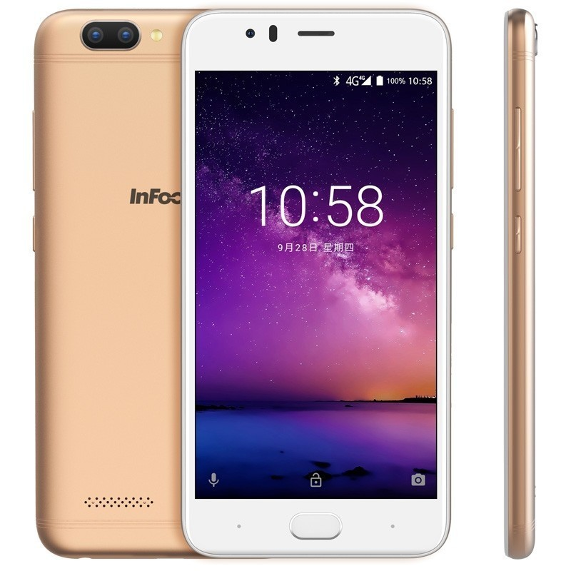 """Image 4 - Infocus A3 mobile phone 5.2"""" LTE 4G smartphone 2GB +16GB 3050mAh Quad core phones fingerprint Dual came Android 7.0 cell phones-in Cellphones from Cellphones & Telecommunications"""