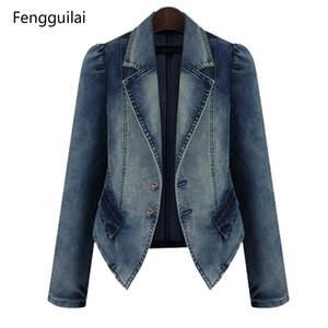 138f7905b27 Fengguilai Spring Denim blazer Slim Suit Female Women Coat