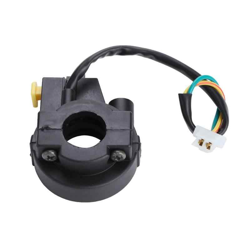 1Pcs Black Plastic 22mm Motorcycle Handlebar ON/OFF Button Headlamp Horn Switch Fog Light Switch For ATV Electric Motorcycle