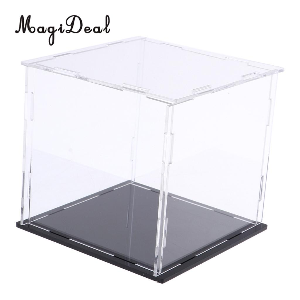 MagiDeal Square Acrylic Display Case Dust-proof Show Box For Plane Car Boat Model 6*6*6inch