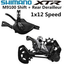 SHIMANO Mecanismo deore XTR M9100 para bicicleta de montaña, de 1x12 velocidades, desviador trasero RD SL M9100, cambio XTR
