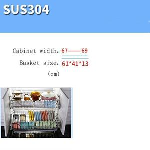 Image 4 - And Storage Organizador Armario Cocina Stainless Steel Cuisine Organizer Cozinha Kitchen Cabinet Cestas Para Organizar Basket