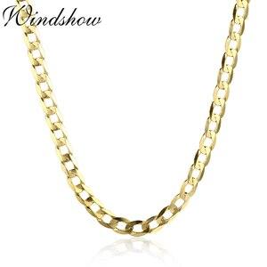 Image 5 - 45cm 80cm 4mm Dünne 925 Sterling Silber W/ Gold Farbe Curb Kette Link Halsketten Frauen männer Schmuck Collares Kolye Collier Halskette
