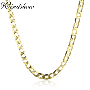 Image 5 - 45cm 80cm 4mm Slim 925 Sterling Silver W/ Gold Color Curb Chain Link Necklaces Women Men Jewelry Collares Kolye Collier Ketting