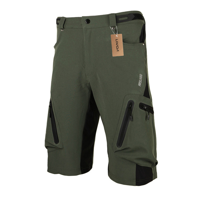 Lixada Bike Baggy Shorts MTB Cycling Breathable Sports Loose Fit Shorts Outdoor Casual Clothes with Zippered Pockets
