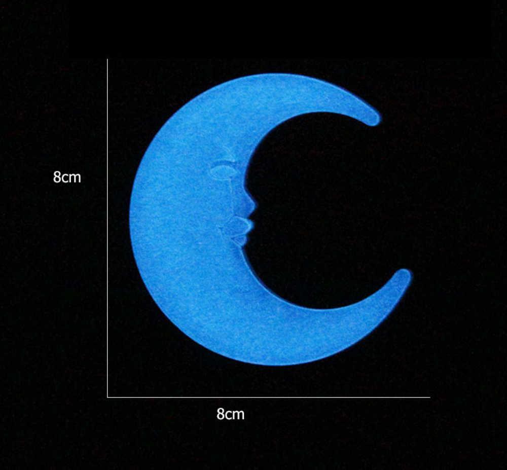 Luna creativa que brilla en la oscuridad pegatinas de pared para habitación de niños sala de estar pared luminosa pegatina decoración del hogar Póster